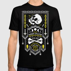 Deathbanner Mens Fitted Tee SMALL Black