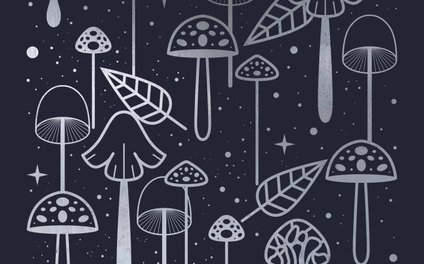 Art Print - Silver Mushrooms - Carly Watts