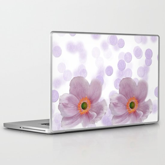 Japanese Anemone Laptop & iPad Skin
