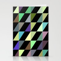 Tilted rectangles pattern Stationery Cards