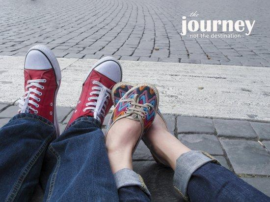 The journey, not the destination Art Print