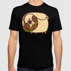 Puglie Burrito SMALL Mens Fitted Tee Black
