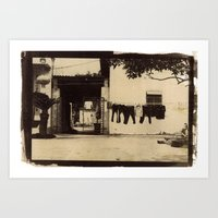Dry Cleaning Art Print