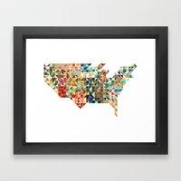 Geometric United States Framed Art Print