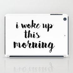 I woke up iPad Case