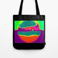 Psychedelic Hamburger Tote Bag