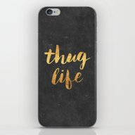 iPhone & iPod Skin featuring Thug Life by Text Guy