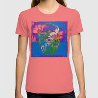 The 4i Skull - Mixed Med… Womens Fitted Tee Pomegranate SMALL