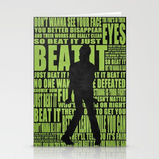 Beat it Stationery Card