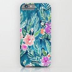 PARADISE FLORAL - NAVY Slim Case iPhone 6s
