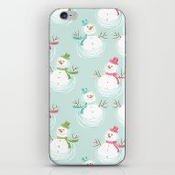 Adorable Christmas Snowm… iPhone & iPod Skin