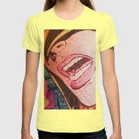 The Face Womens Fitted Tee Lemon SMALL