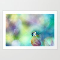 Rainbow Drop Art Print