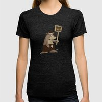 Bears Want To Be Bare Womens Fitted Tee Tri-Black SMALL