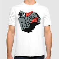 I Would Prefer Not To. Mens Fitted Tee White SMALL