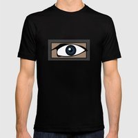 Blue Gaze Mens Fitted Tee Black SMALL