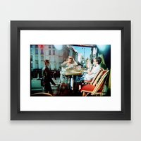 Cafe Arsenal, Paris (Double Exposure) Framed Art Print