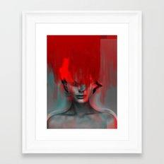 Red Head Woman Framed Art Print