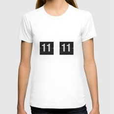 11:11 Womens Fitted Tee White SMALL
