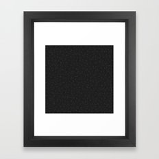 White And Grey Geometric… Framed Art Print