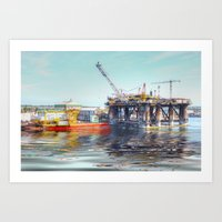 Rig And Works  Art Print