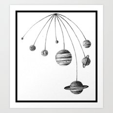 Solar System Design by Colleen Trillow Art Print