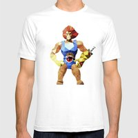 Polygon Heroes - Lion-O Mens Fitted Tee White SMALL