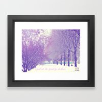 Can't See The Forest For… Framed Art Print