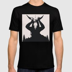 FOREST Mens Fitted Tee Black SMALL