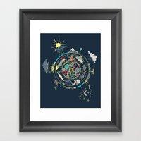 Running Like Clockworld Framed Art Print