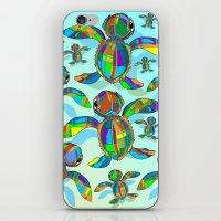 Baby Sea Turtle Fabric T… iPhone & iPod Skin