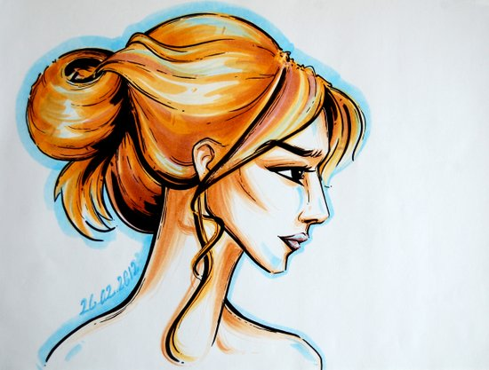 blonde girl Art Print