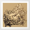 bed of vines Art Print