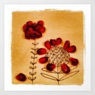 Pomegranat Flowers Art Print