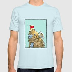 Winged Gorilla Mens Fitted Tee Light Blue SMALL