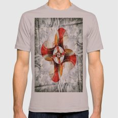 Volutes Mens Fitted Tee Cinder SMALL