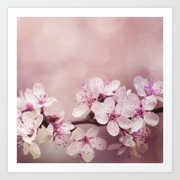 cherry blossom Art Prints featuring Cherry Blossom by LebensART Photography