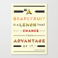 Oscar Wilde: A Grapefrui… Canvas Print