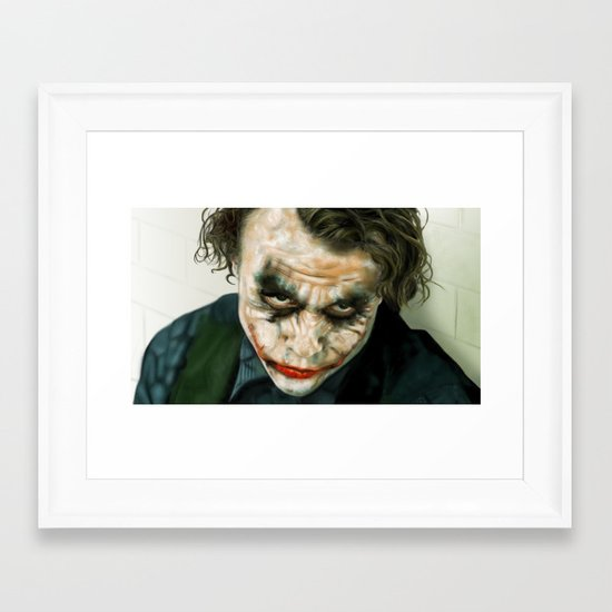 Joker, Heath Ledger Framed Art Print