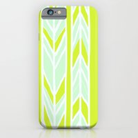 Stripes: Yellow & Pale Blue iPhone 6 Slim Case