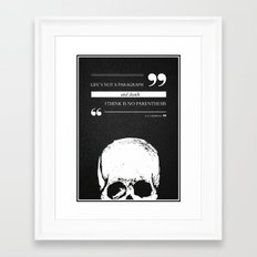 Parenthesis Framed Art Print