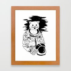 Lolcatronaut Framed Art Print