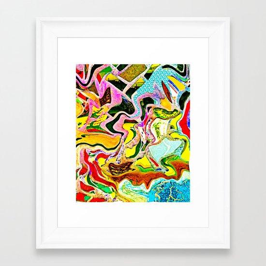 Summer Stain Framed Art Print