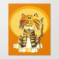 Tabby The Tiger Canvas Print
