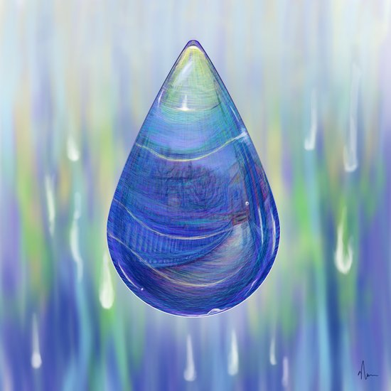 Drip Drop - Painting Canvas Print