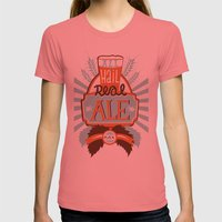 All Hail Real Ale Womens Fitted Tee Pomegranate SMALL