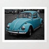 Beetle Blues Art Print