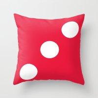 Red Dice 3 Throw Pillow
