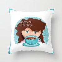 Deseos Mañaneros Throw Pillow