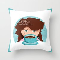 Deseos Mañaneros Throw Pillow